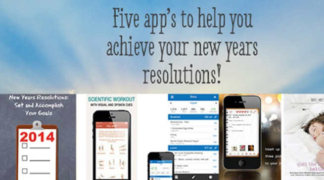 5 Apps to help achieve New Years Resolutions