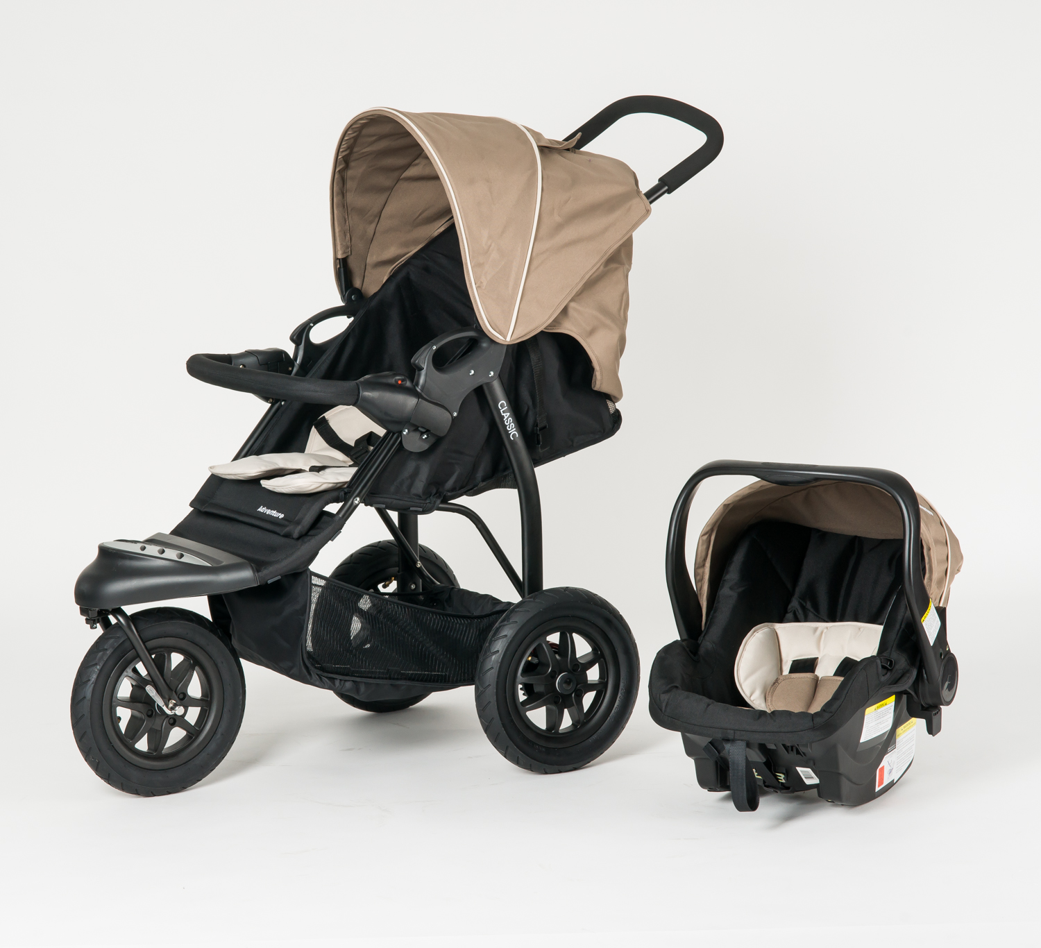 f9f2384508 The Adventure Classic is a sturdy infant to toddler buggy that includes an  ergonomically designed car seat capsule as part of the package.