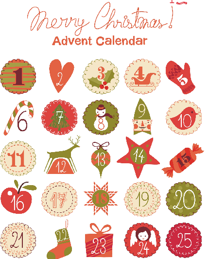 picture about Printable Christmas Calendar named Introduction Calendar printables
