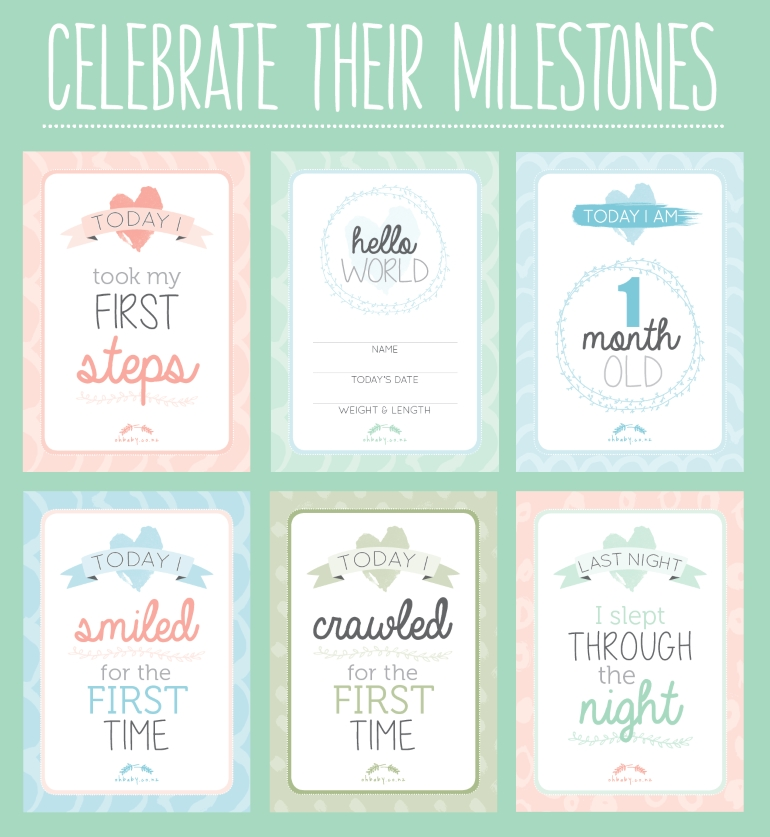 photograph relating to Printable Baby Month Signs referred to as PRINTABLE: Exciting milestone playing cards