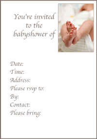 General Baby Shower Invitation