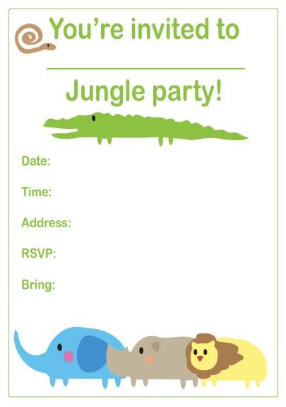 Jungle Party Invitation Boys Birthday Party Theme Invitation Ideas – Jungle Party Invitation
